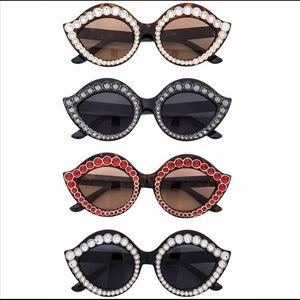 Pave Crystal Iconic Frame Sunglasses